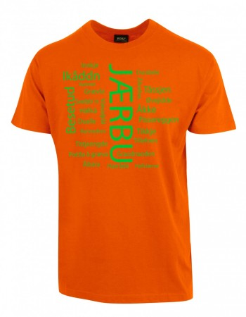 Jærbu T-skjorte orange/lime